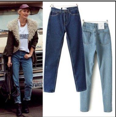 Найти ещё Брюки и капри Сведения о 2015 мода женские шаровары свободного покроя джинсы брюки Большой размер длинные брюки завышенной талией ретро джинсовые джинсы все соответствием, высокое качество брюки белые, Китай жан блузку поставщиков, Бюджетный брюки платье из BUYMINE на Aliexpress.com