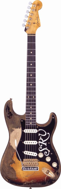 Fender SRV Strat -- the bends, pulls and notes played on this guitar, some of the best in the history of all music. Rave on Stevie...