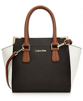 Calvin Klein On My Corner Saffiano Crossbody Handbags Accessories Macys