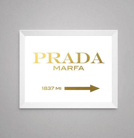 Gold Foil Print Wall Art Prada Marfa Gossip By