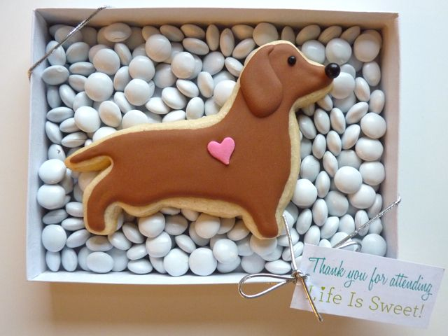 Dachshund Cookie Favor by Sweet Dani B