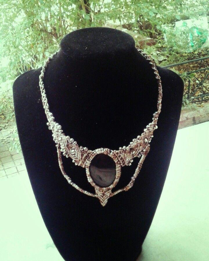 #macrame #handmadejewel #macramenecklace #handmade #micromacrame #pendant #accessories #handmadejewel