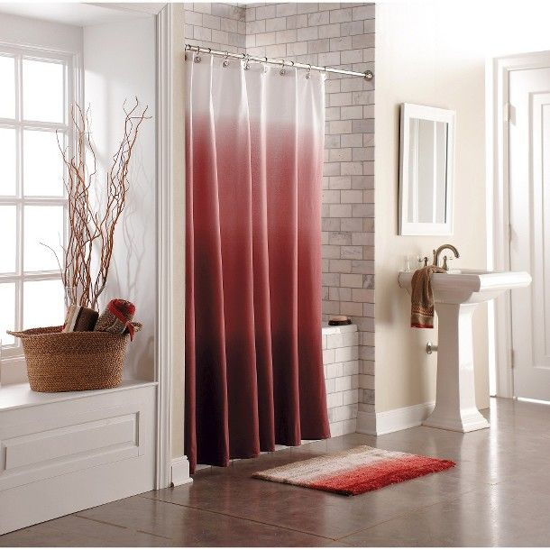 threshold ombre shower curtain red curtains pinterest