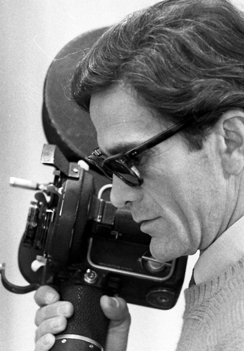 film lunarlon Teorema Pier of Italian an Pasolini running director shoes was Paolo  on set the