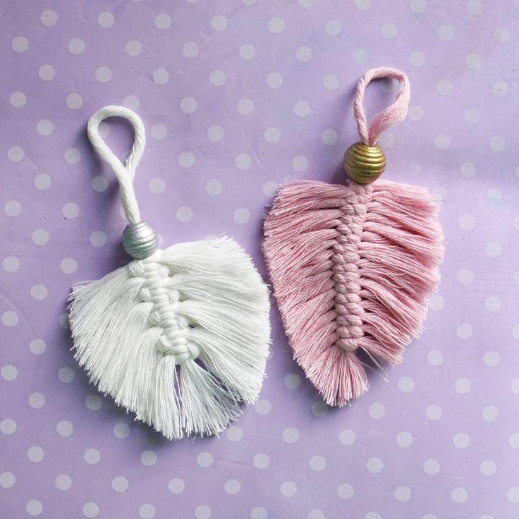DIY Macrame leaves 🌿 Hand made