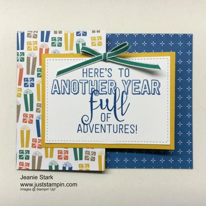 Make this fun fold gift card/money holder using the Balloon Adventures Stamp Set and Party Animal Designer Series Paper from the Stampin' Up!  www.juststampin.com