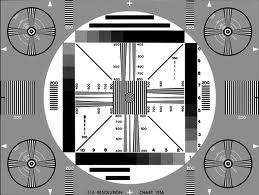 TV test pattern 1956