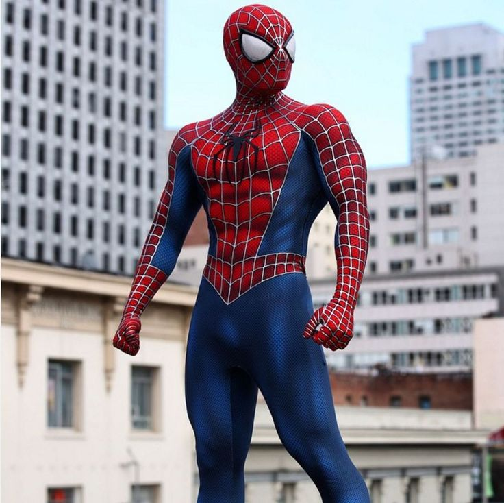 Spider-man costume movie quality replica cosplay suit ...