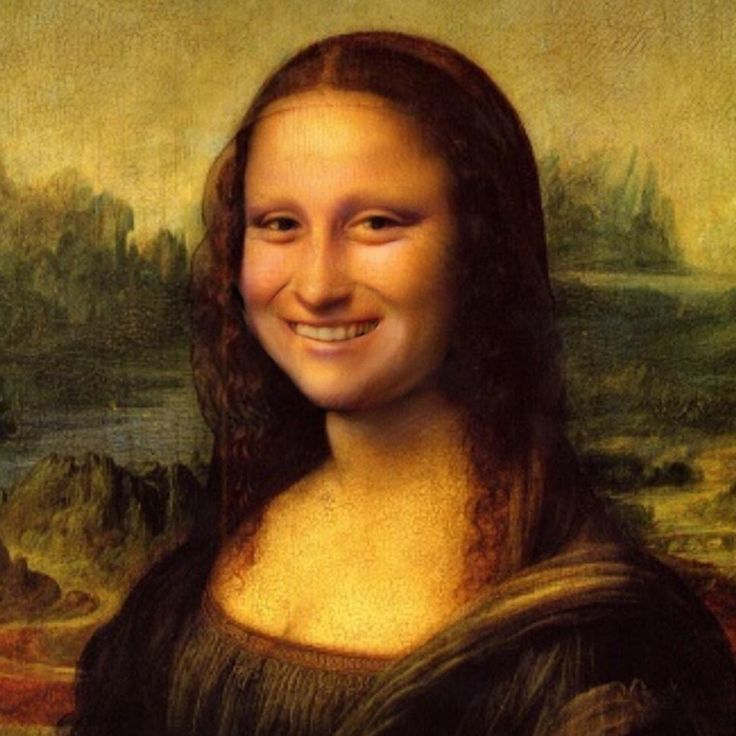 Smiling Mona Lisa