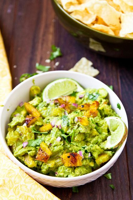 Guacamole with Grilled Pineapple