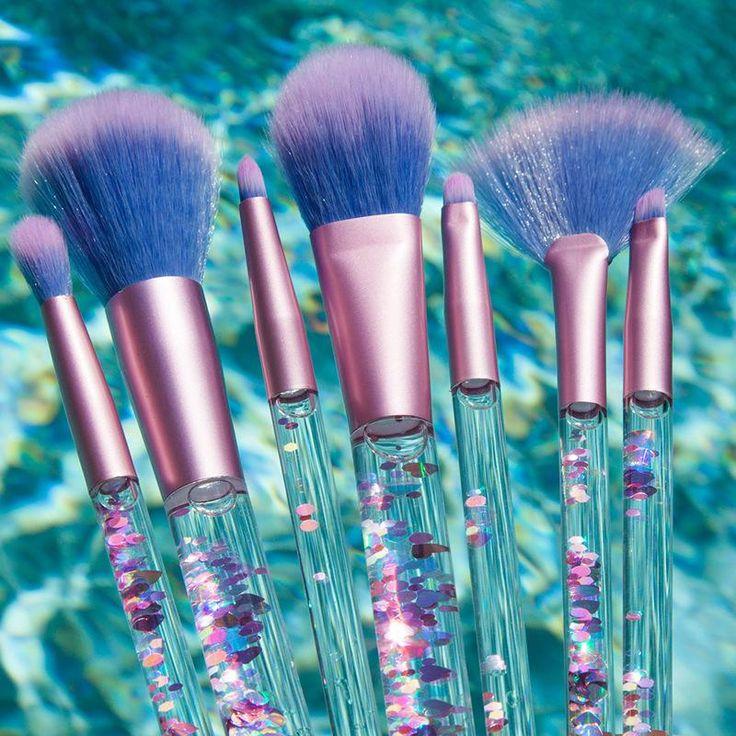 Mermaid Liquid Makeup Brush Set 7 essential makeup