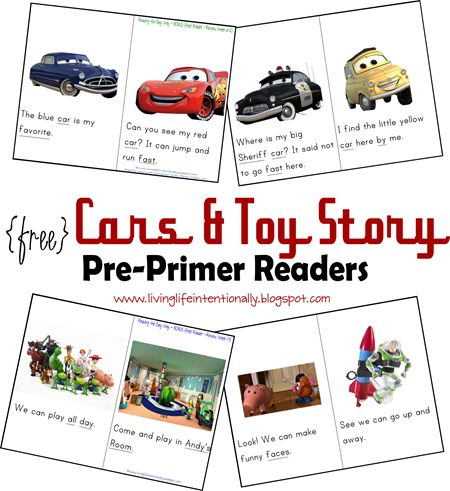 Help your preschooler start reading by mastering key sight words. Here are two FREE Disney inspired pre-primer readers from 123 Homeschool 4 Me.