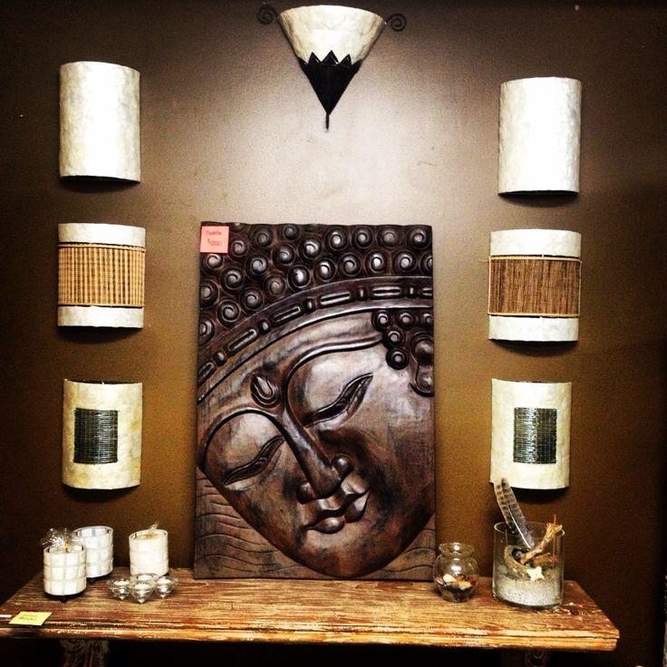 Beautiful Wood Buddha Panel 100x70 WAS $595 NOW ONLY $200!  #baliandbeyond #balilove #yyc #calgary #buddha #love #hugesale