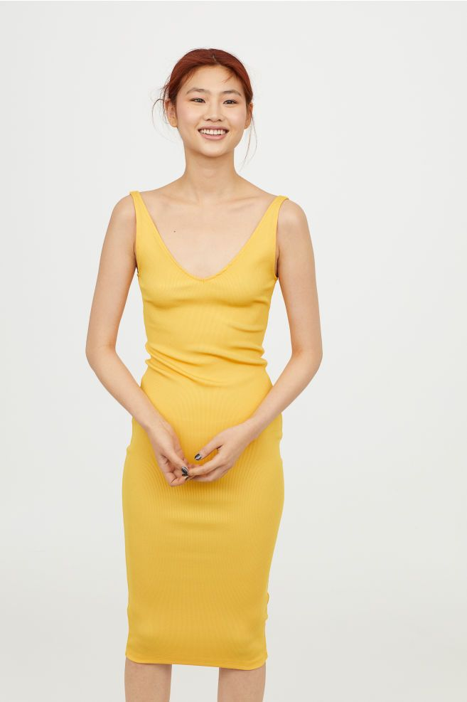 Bodycon klänning Gul DAM | H&M SE