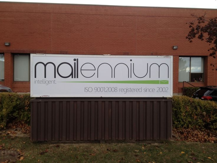 Just finished up this new storefront sign for Mailennium  #outdoorsignage #Mississauga