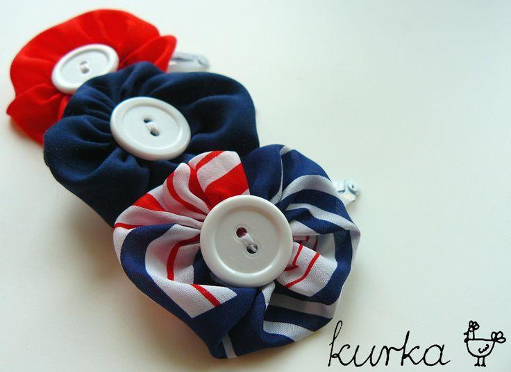 spinki handmade by kurka - marynarskie kwiaty