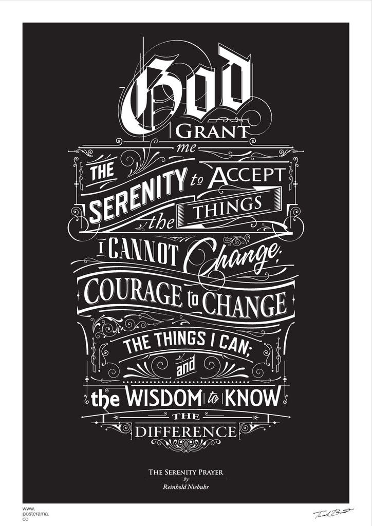 CANVAS: The Serenity Prayer, by Reinhold Niebuhr/ Tomasz Biernat. Poster.