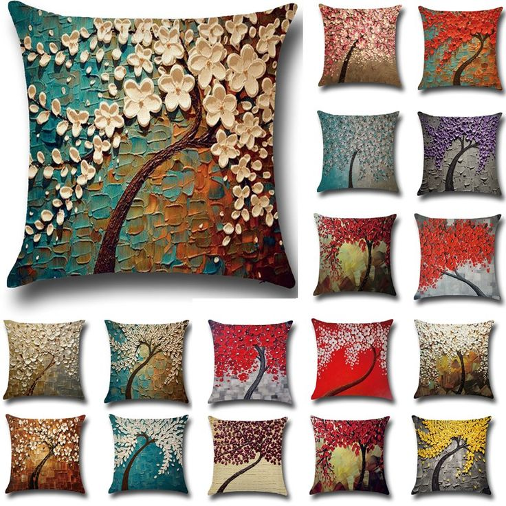 Cheap sofa hotel, Buy Quality sofa bed mechanism directly from China sofa bed metal frame Suppliers: 1 Pcs Flower Tree Printed Cotton Linen Throw Pillow Cushion Cover Seat Car Home Sofa Bed Decorative Pillowcase funda cojin 40211