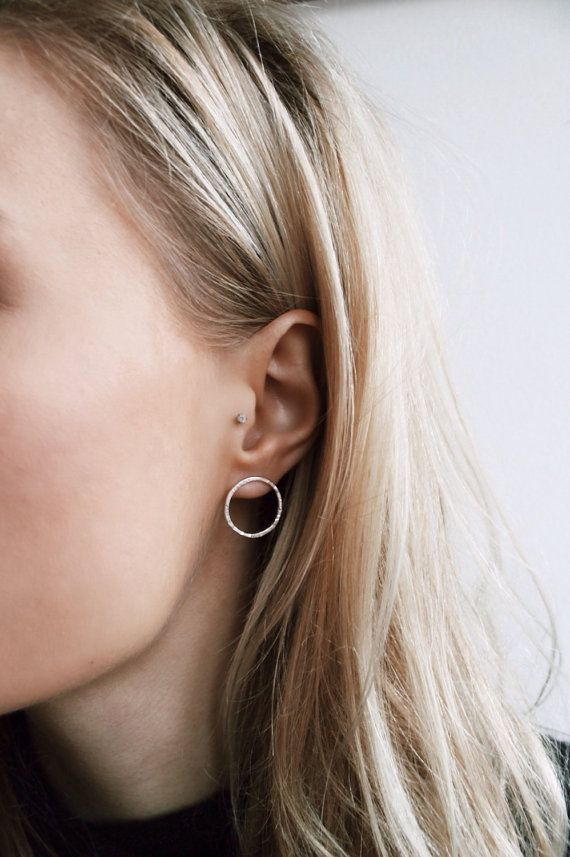 Cirkel oorbellen | Sterling zilveren oorbellen | Geometrische sieraden | Minimalistische sieraden | Verklaring oorbellen | Eco vriendelijke sieraden
