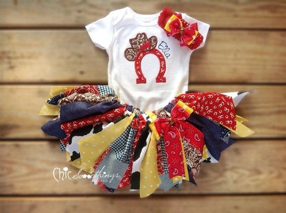 Fabric Tutu Cowgirl Jessie Shabby Chic Fabric by ChicSomethings, $32.00