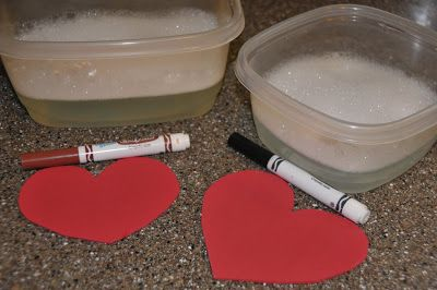 Create in Me a Clean Heart Washable markers will wash off craft foam hearts!