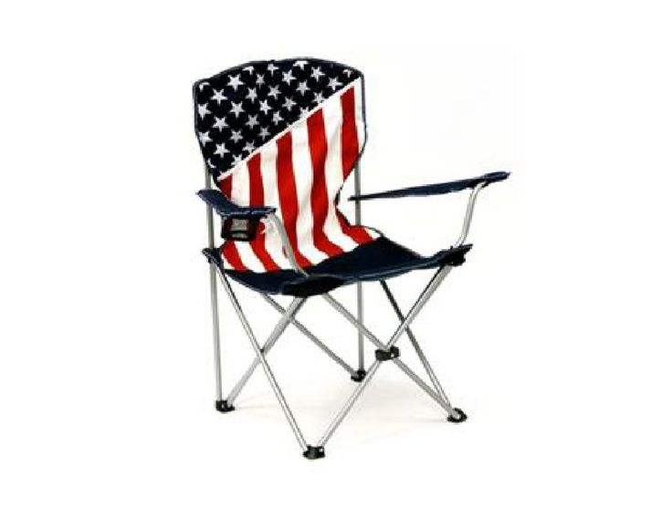 USA American Flag FOLDING Canvas CHAIR & Storage Bag *RED WHITE BLUE STARS BARS #Unbranded