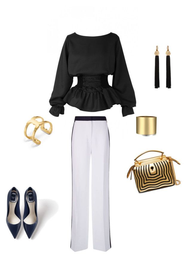 Chic and Sport Details by anna-samarina on Polyvore featuring polyvore, fashion, style, Victoria, Victoria Beckham, Fendi, Tory Burch, Yves Saint Laurent and clothing