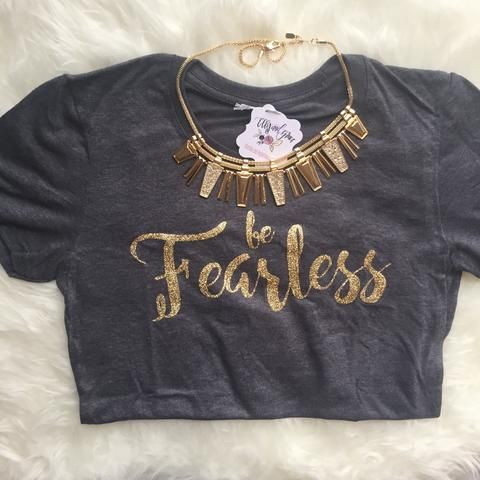 If you're looking for the softest short sleeve shirt, look no further! This will be the softest shirt you own and makes a great gift. This Be Fearless shirt also comes in youth sizes. Get it for your