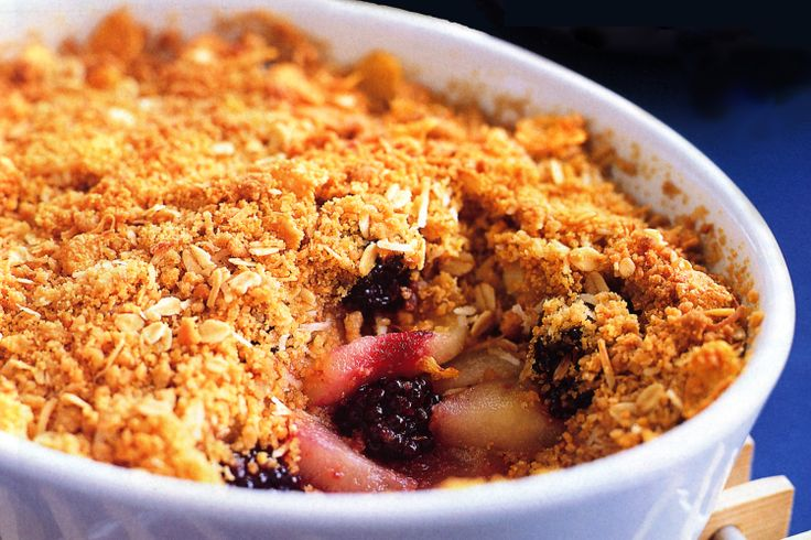Beat the winter weather blues with this delicious crumble, featuring seasonal apple and berries.