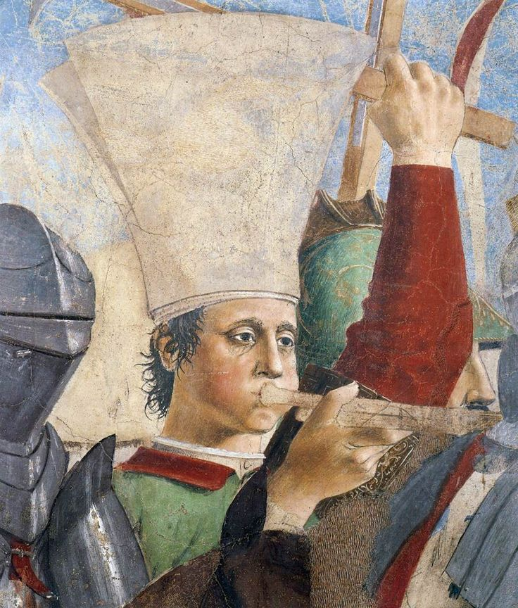 ❤ - PIERO DELLA FRANCESCA - (1415 - 1492) - Battle between Heraclius and Chosroes (detail). Fresco. Basilica di San Francesco, Arezzo,Italy.
