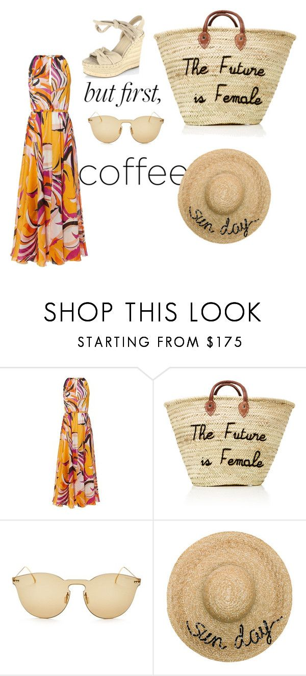 """""""Untitled #72"""" by e-pia-cennamo ❤ liked on Polyvore featuring Emilio Pucci, Illesteva, Eugenia Kim and Kendall + Kylie"""