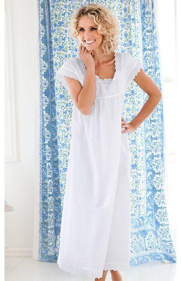 1d9b1da1c9191d Baumwoll-Nachthemd in weiß - 222695 | DW-Shop | Mode 2019 in 2019 ...