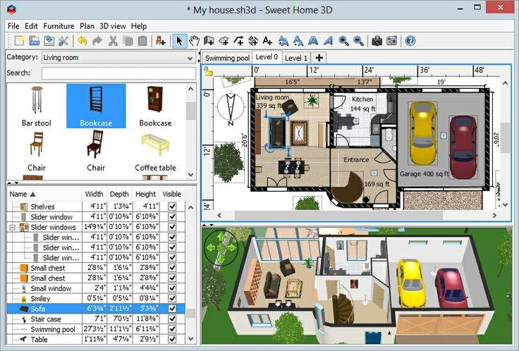 Программы для дизайна интерьера: обзор функциональных возможностей профессиональных инструментов дизайнеров http://happymodern.ru/programmy-dlya-dizajna-interyera/ Поэтажный план частного дома с гаражом и террасой, составленный в бесплатной программе Sweet Home 3D от eTeks Смотри больше http://happymodern.ru/programmy-dlya-dizajna-interyera/