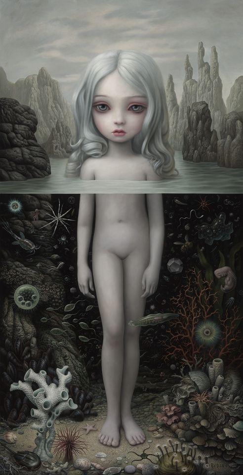 "Mark Ryden ""Aurora,"" 2015 oil on canvas 112 x 58 inches; 284.5 x 147.3 cm (PK…"
