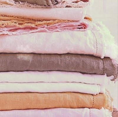 fresh linens in pretty colors