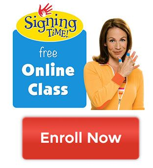 Free Online Class for learning American sign language....mostly signs to use with children.