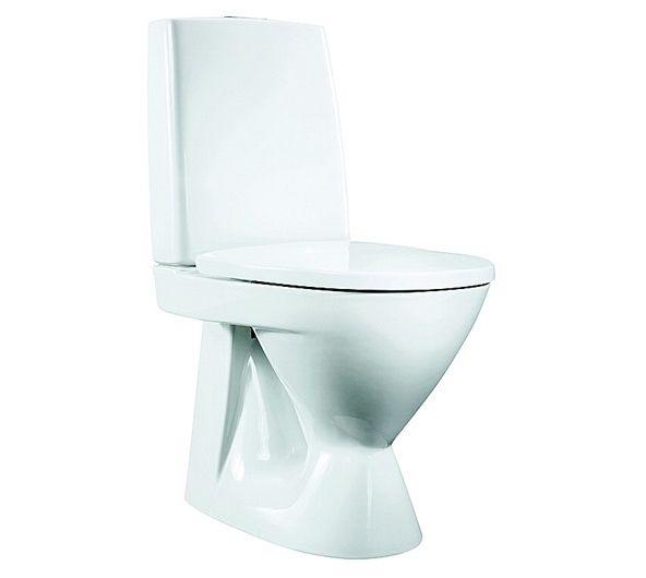6002242 Porsgrund  Porsgrund Seven D Gulvstående toalett S-Lås, 650x360 mm.