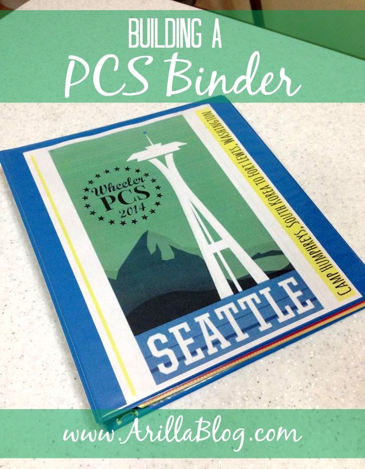 Building a PCS Binder - this is a MUST to organize your life and all important documents for each military move