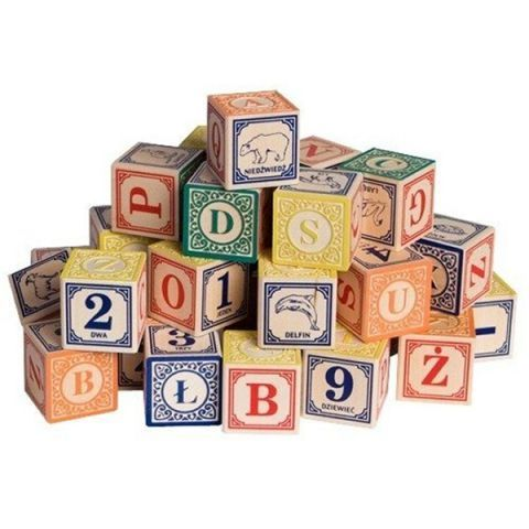 Uncle Goose Polish Alphabet Blocks