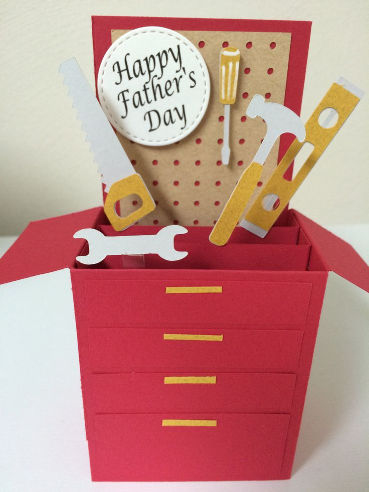 Father's Day Tool Box Card in a box by MessagesAndMemories on Etsy