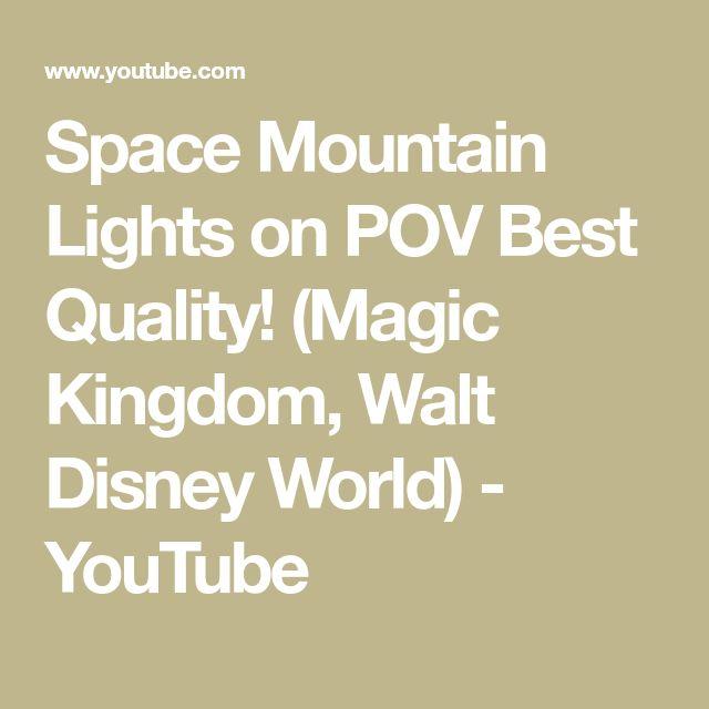 Space Mountain Lights on POV Best Quality! (Magic Kingdom, Walt Disney World) - YouTube