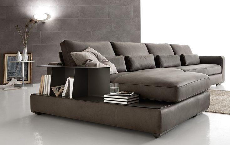 Corner sectional leather sofa LOMAN LEATHER by Ditre Italia design Stefano Spessotto, Lorella Agnoletto