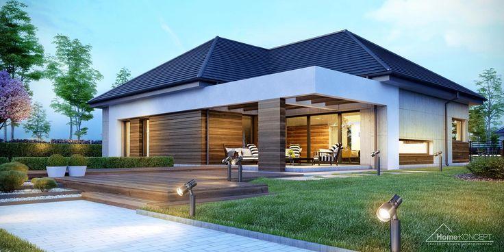 38 besten architektur bungalow bilder auf pinterest fassaden moderne h user und bungalows. Black Bedroom Furniture Sets. Home Design Ideas