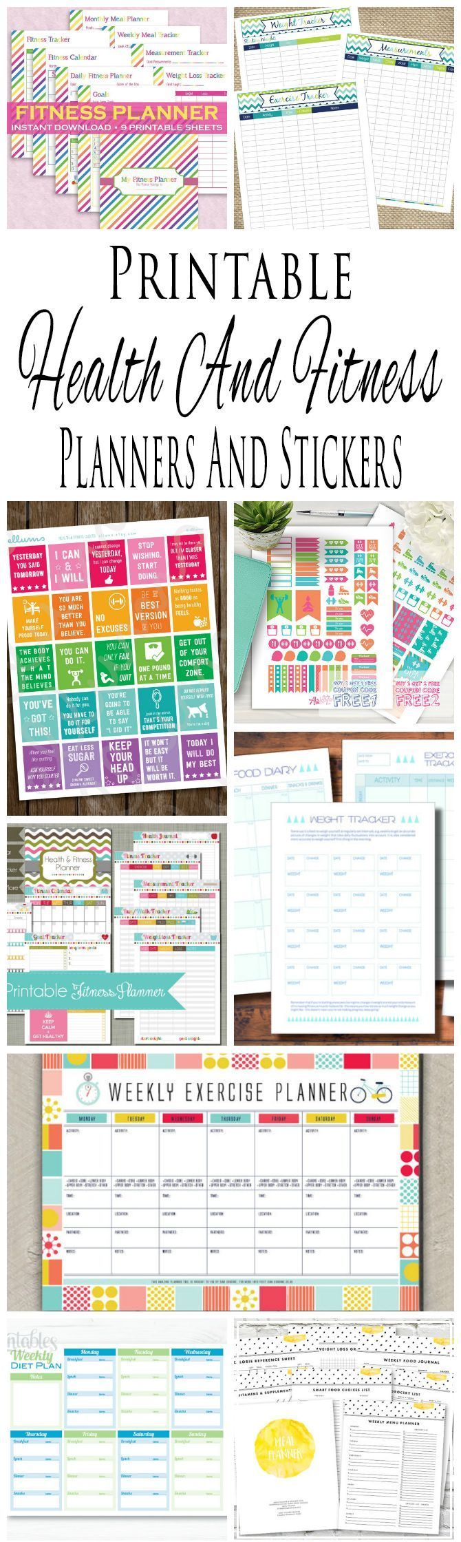 Health And Fitness Planners And Printable Planner Stickers
