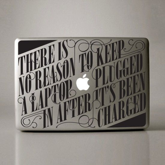 Want to decorate your macbook with some cool stickers consider buying one these cool typographic stickers by design