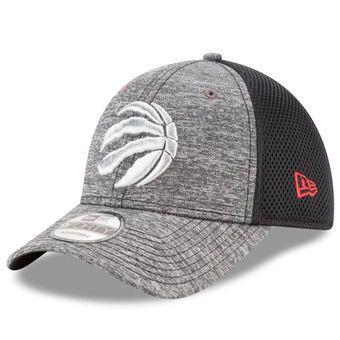 New Era Toronto Raptors Heathered Gray/Black Shadow Turn 9FORTY Adjustable Hat #raptors #toronto #nba