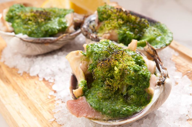 Burned 'Oki Asari' with herb butter