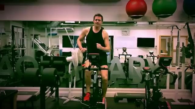 Pete Reed triple Olympian rower #stepupgetdown for Red Nose Day 2017 Fitbit Alta