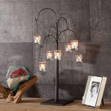 Świecznik Tree na tealighta 70cm metal