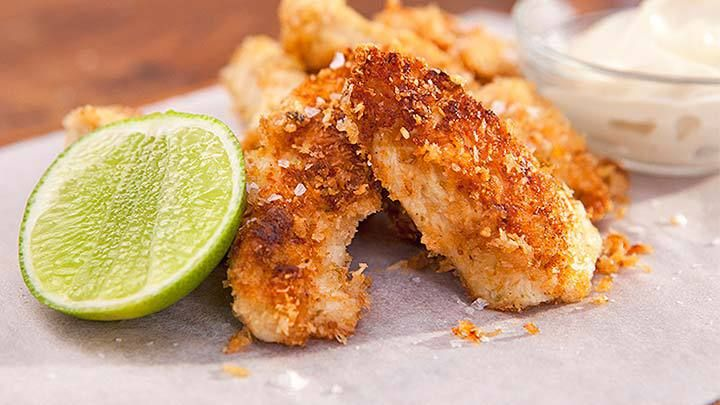 Coconut Crusted Chicken Goujons